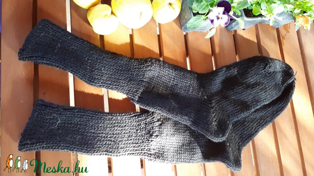 Vastag gyapjú zokni - ruha & divat - cipő & papucs - zokni - Meska.hu