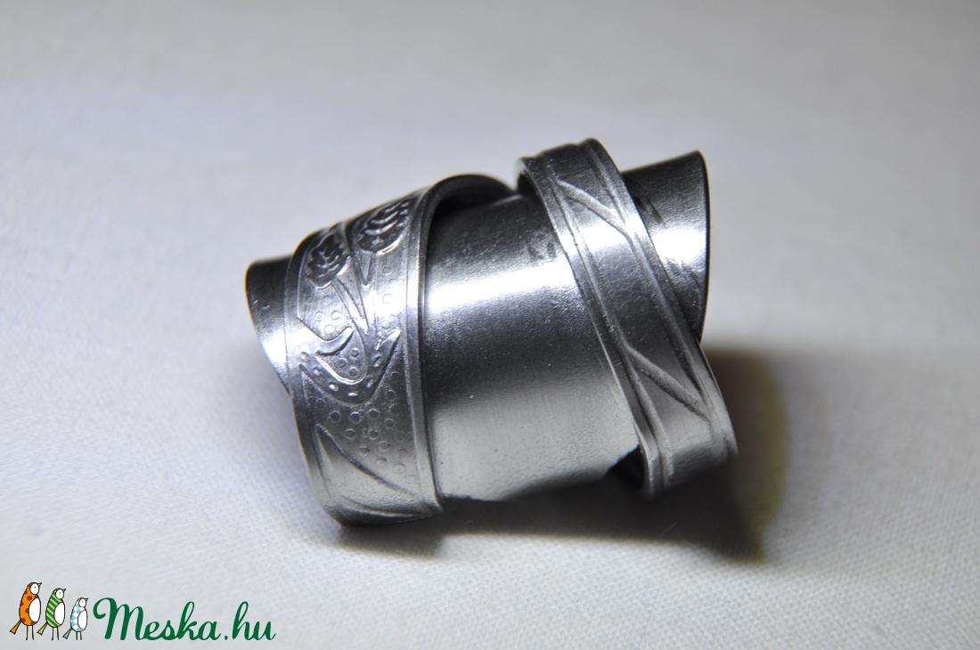 Levél mintás, elegáns fém gyűrű (GY095) - ékszer - gyűrű - statement gyűrű - Meska.hu