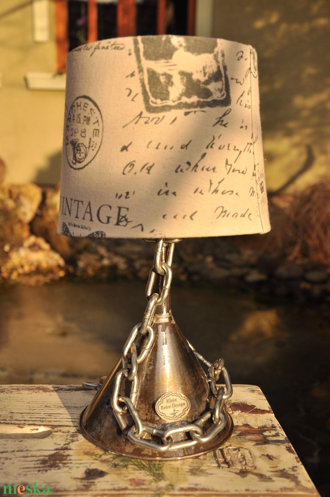 Antik tölcsér asztali lámpa - otthon & lakás - lámpa - asztali lámpa - Meska.hu