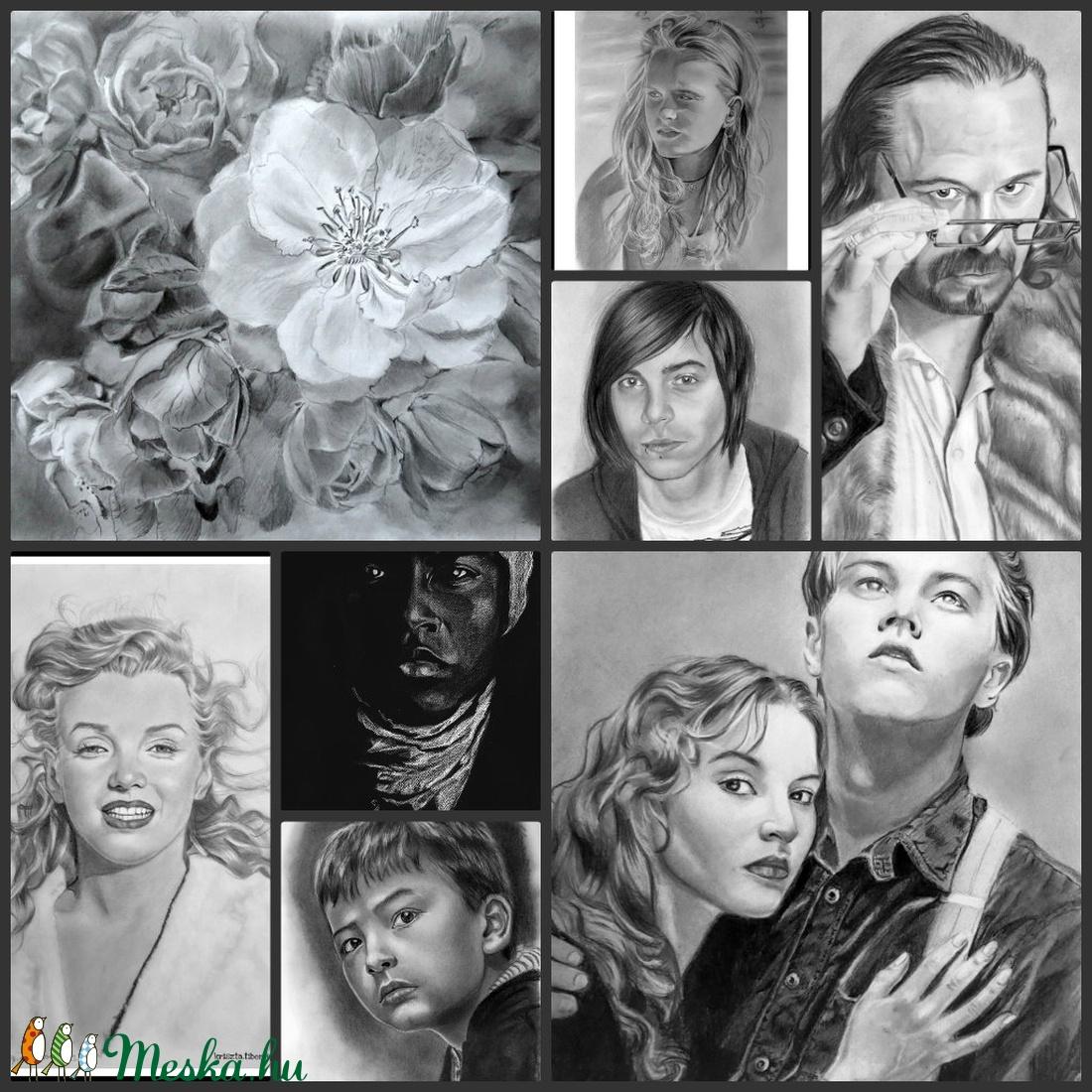 portrérajz, ceruzarajz, grafitrajz megrendelésre, évfordulóra, születésnapra egyéb alkalmakra (Krisztib18) - Meska.hu