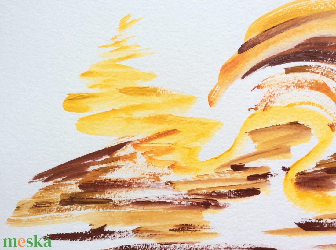Napfény játszik a homokban.- festmény - művészet - festmény - akril - Meska.hu