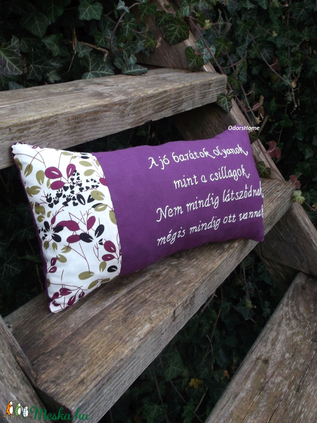 Személyes üzenet kézzel hímzett párna - egyedi hímzett párna - idézetes  párna - személyre szabott ajándék - 60x30cm 6aea5bd96e