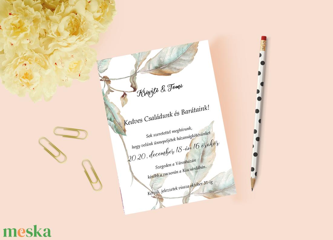 Őszies stílusú esküvői meghívó - esküvő - meghívó & kártya - meghívó - Meska.hu