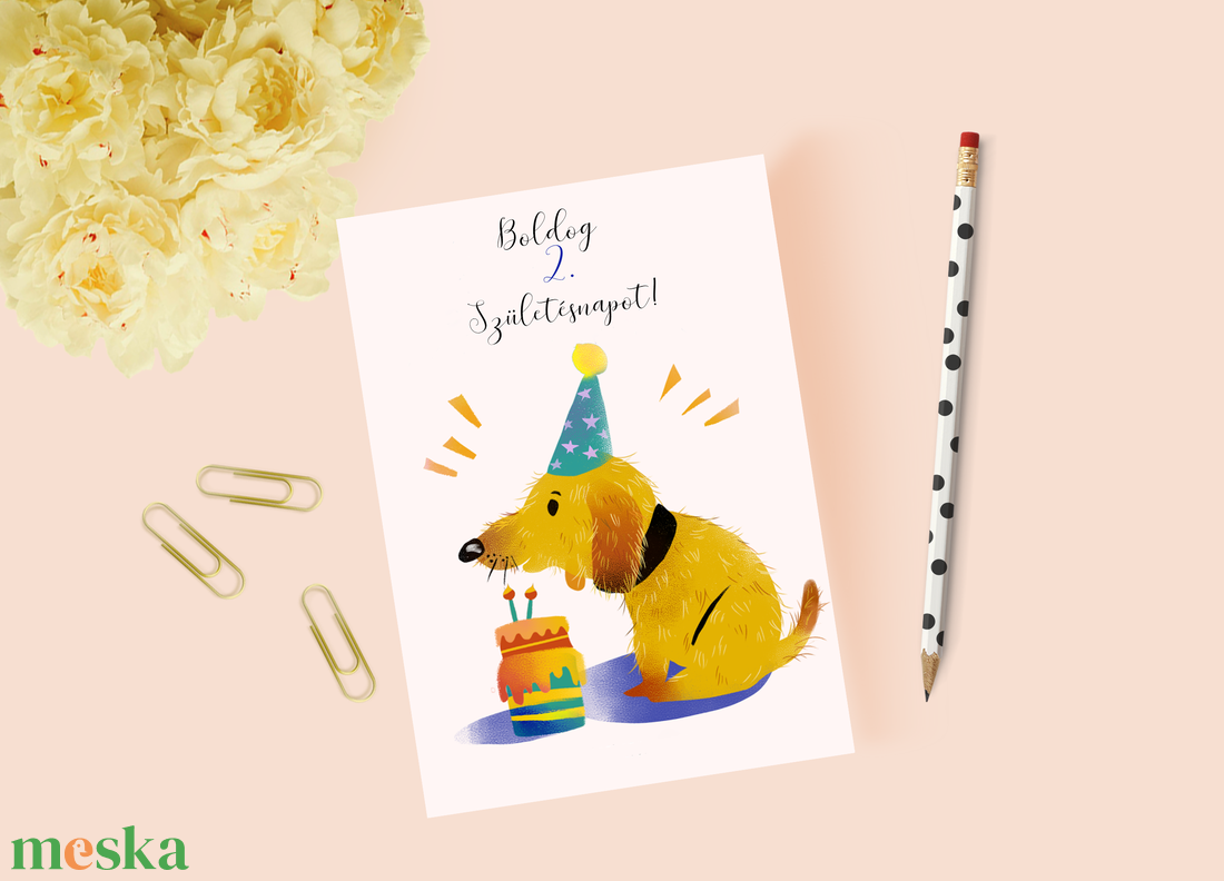 Egyedi szövegezésű születésnapi képeslap, szülinapi képeslap, üdvözlőlap - otthon & lakás - papír írószer - képeslap & levélpapír - Meska.hu