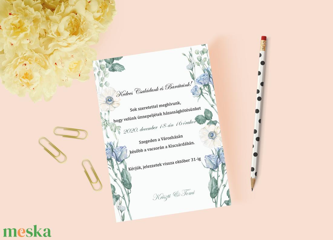 Téli esküvői meghívó - esküvő - meghívó & kártya - meghívó - Meska.hu