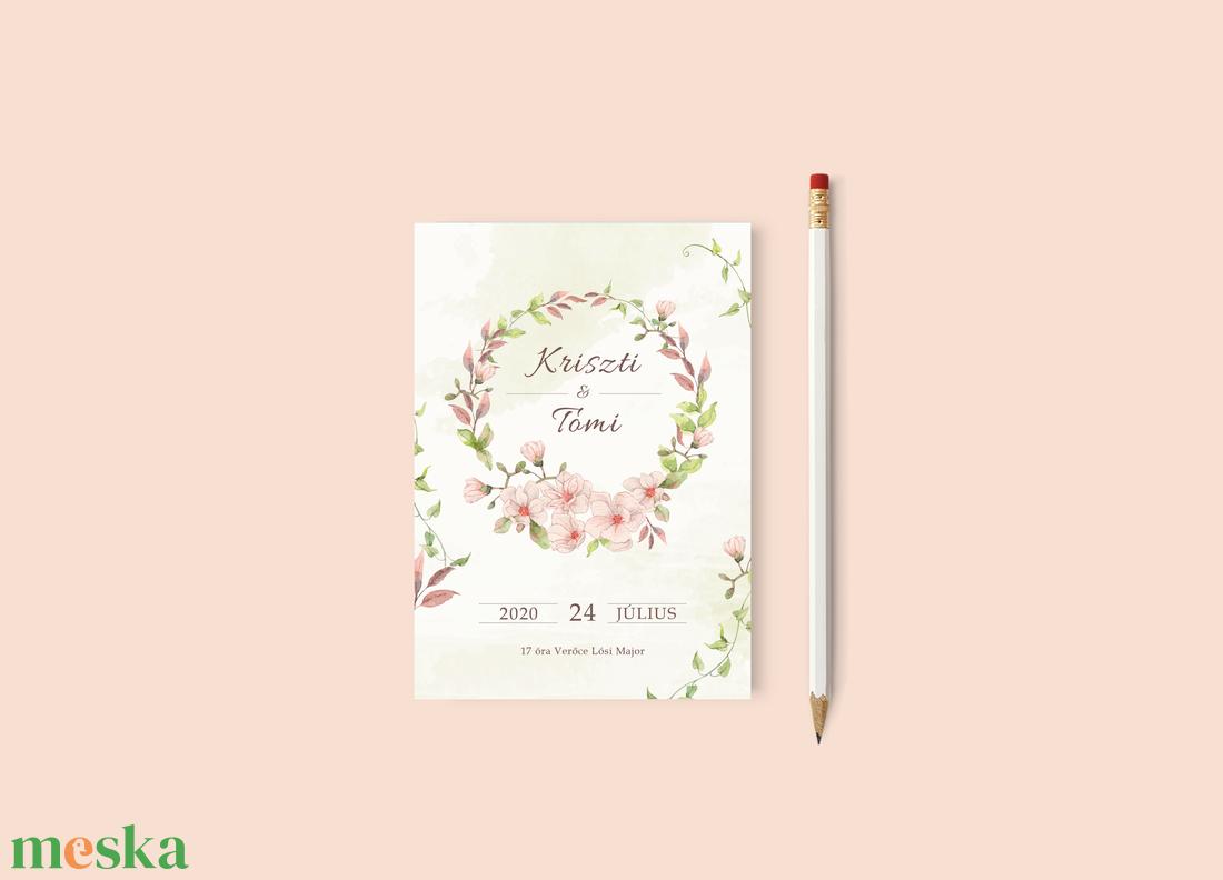 Virágos esküvői meghívó - esküvő - meghívó & kártya - meghívó - Meska.hu