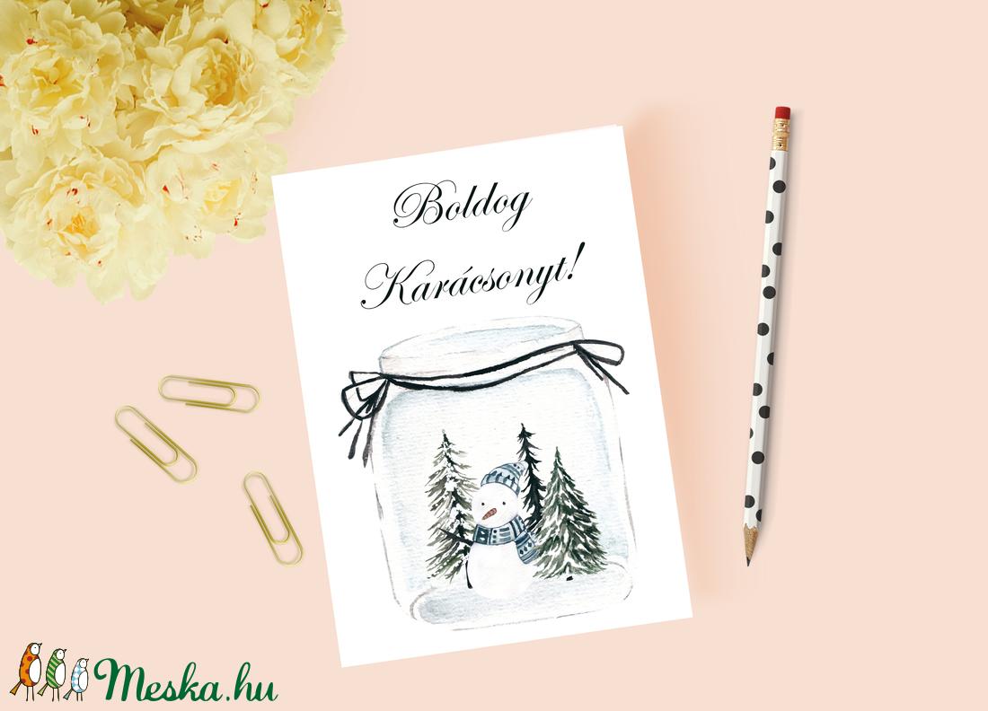 Karácsonyi képeslap, ajándék, üdvözlőlap (krixidesign) - Meska.hu