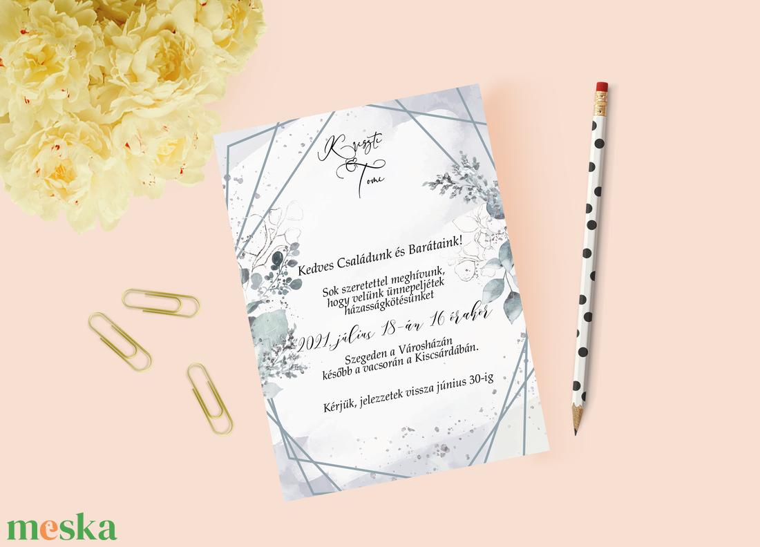 Greenery esküvői meghívó - esküvő - meghívó & kártya - meghívó - Meska.hu