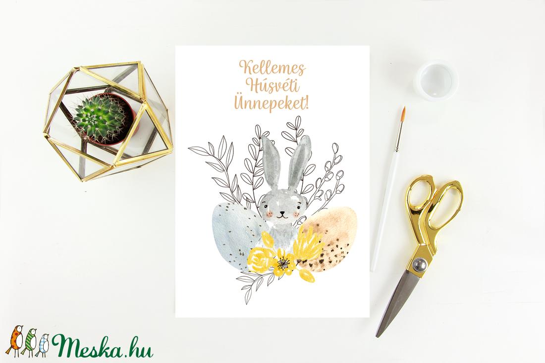 Húsvéti képeslap, ajándék, üdvözlőlap - otthon & lakás - papír írószer - képeslap & levélpapír - Meska.hu