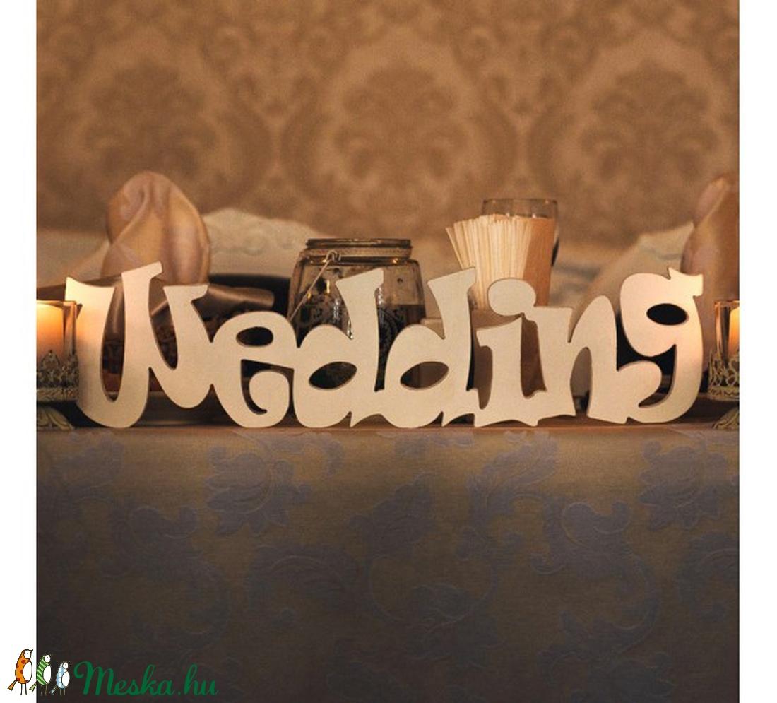 WEDDING felirat (kucserjavaolga) - Meska.hu