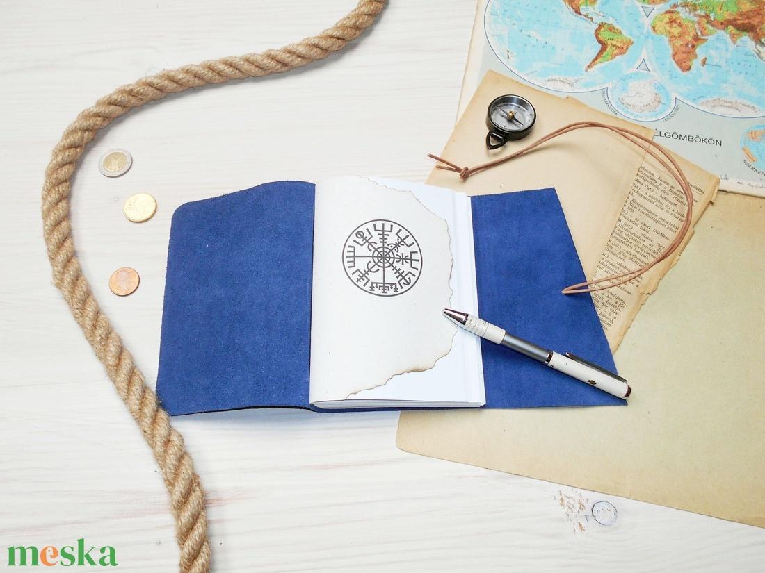 ' Viking ' Antik VALÓDI BŐR Napló / Journal A6 Méretű - Szimbólummal, Égetett első lappal - otthon & lakás - papír írószer - jegyzetfüzet & napló - Meska.hu