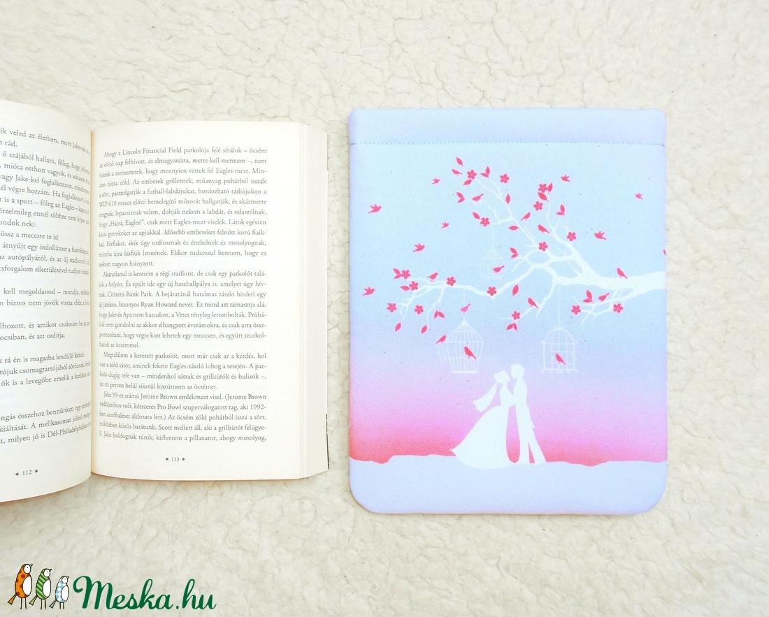 LOVEBIRDS - Könyv Védő Tok, Könyvölelő, Könyvvászon - VÁLASZTHATÓ MÉRET! - otthon & lakás - papír írószer - Meska.hu