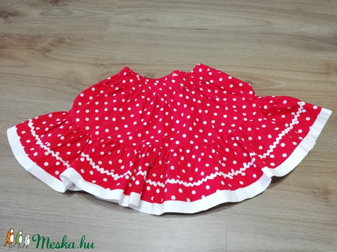 Húzott, fodros szoknya (56-98-as méret) - ruha & divat - babaruha & gyerekruha - szoknya - Meska.hu