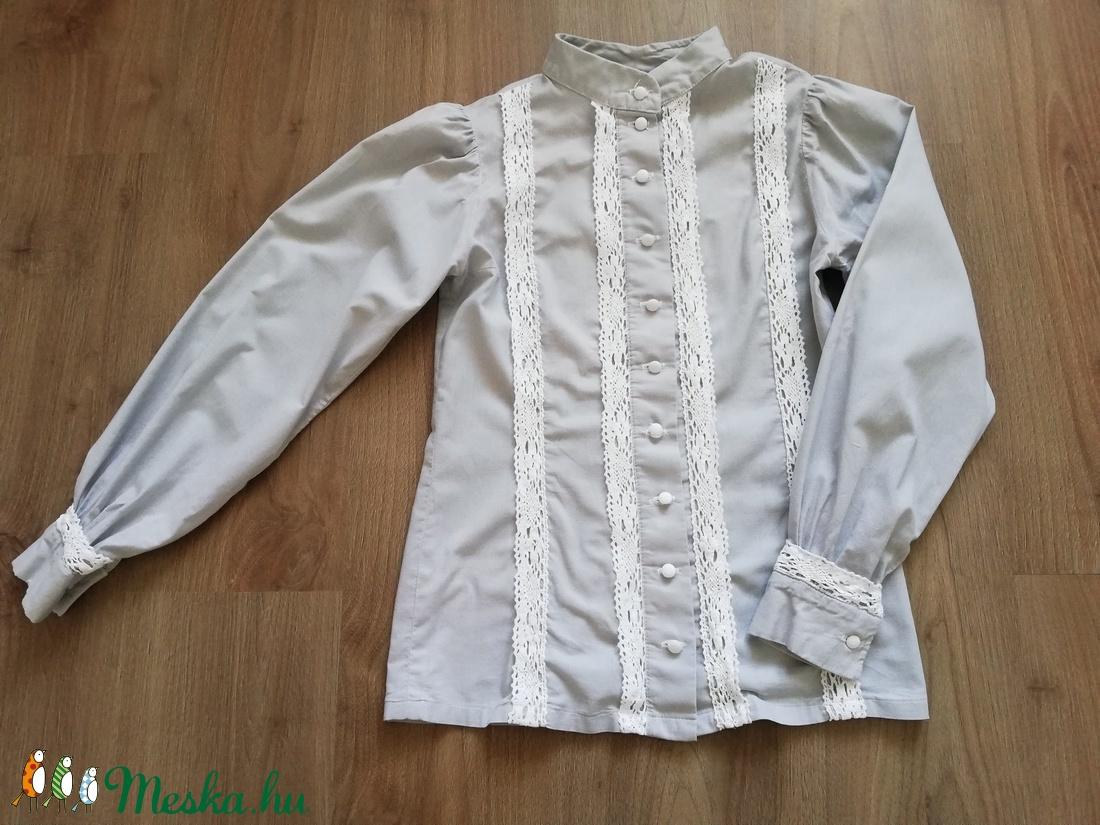 Nyírségi viselethez készült hosszú ujjú blúz - ruha & divat - női ruha - blúz - Meska.hu