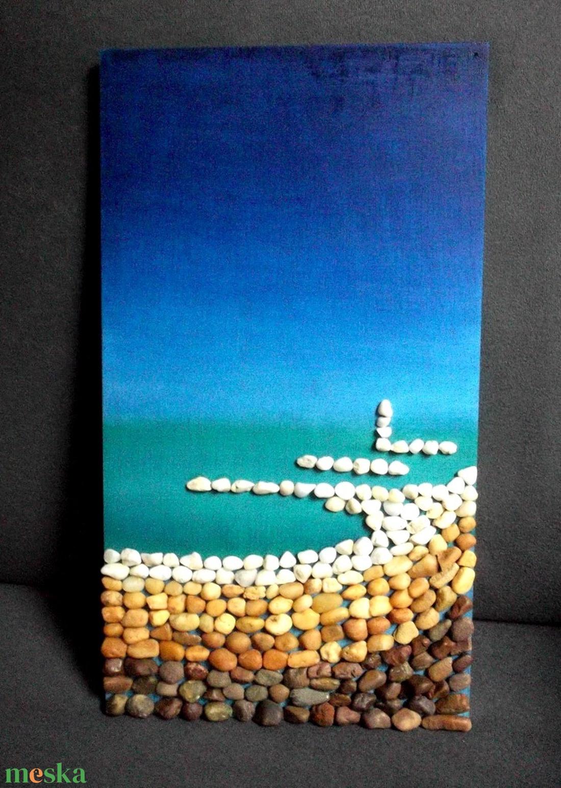 Kavicsok, tenger... - otthon & lakás - dekoráció - kép & falikép - Meska.hu