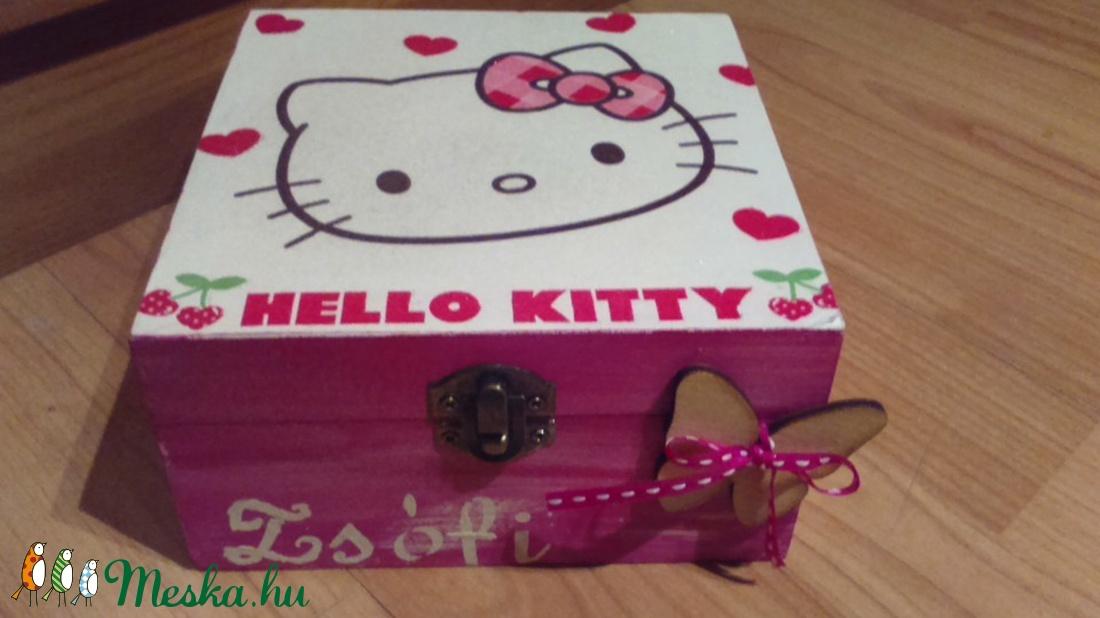 Hello Kitty dobozka - otthon & lakás - dekoráció - díszdoboz - Meska.hu