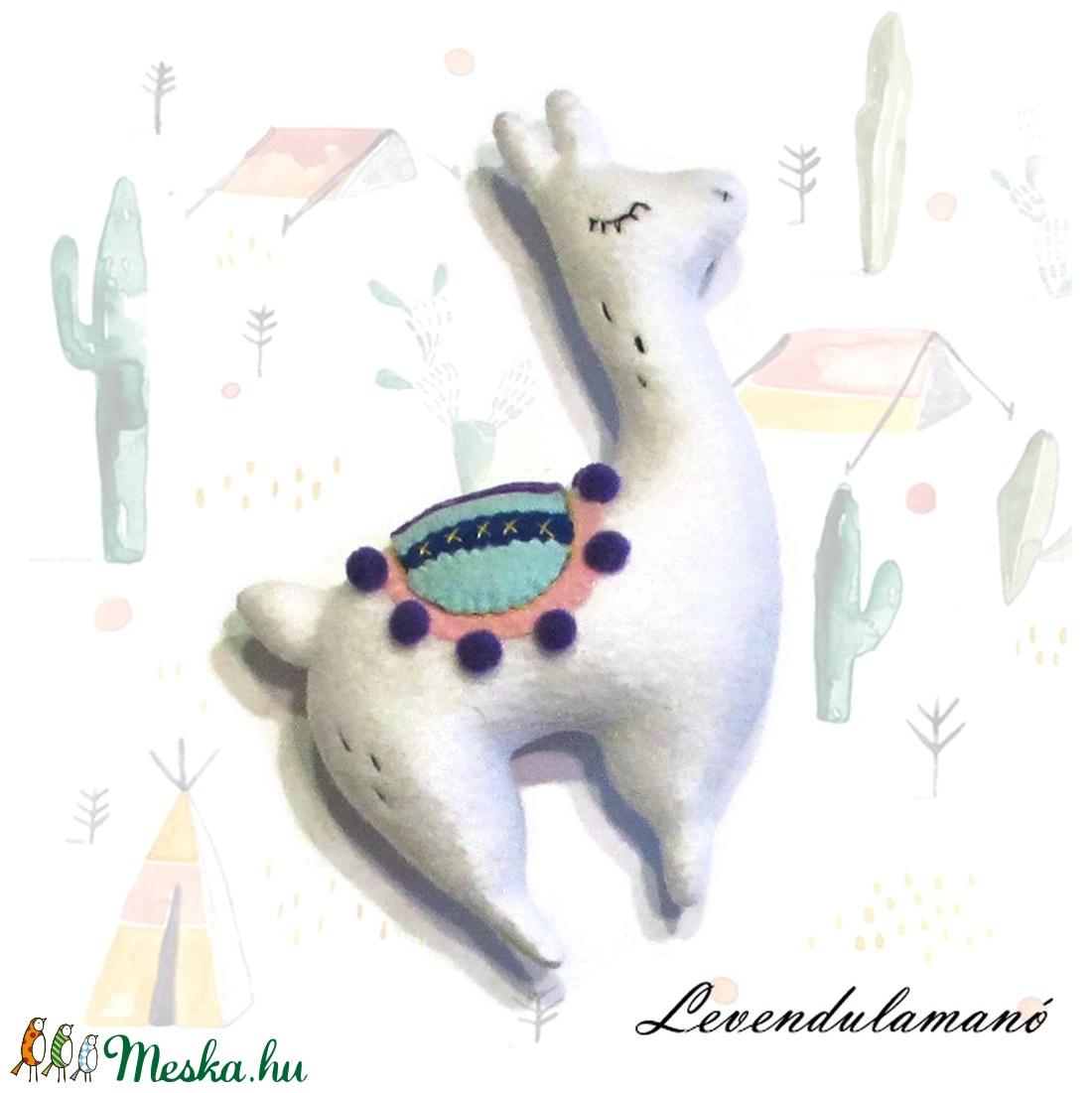 Alpaka plüss figura  (Levendulamano) - Meska.hu