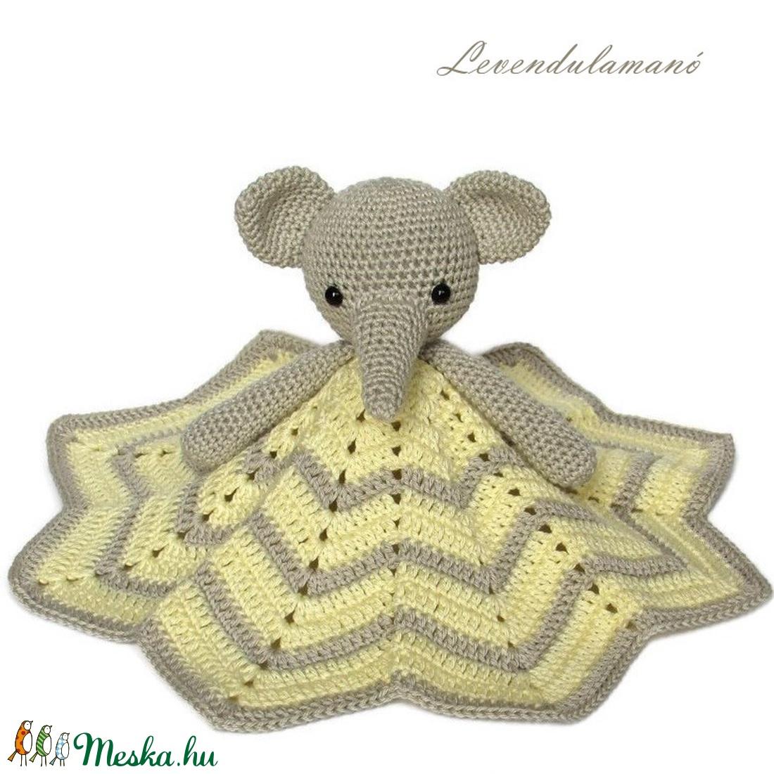 Elefántos szundikendő - Meska.hu