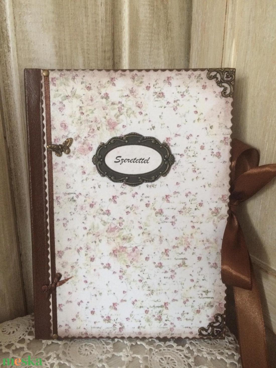 Rózsás napló a legféltettebb titkaidnak - otthon & lakás - papír írószer - jegyzetfüzet & napló - Meska.hu