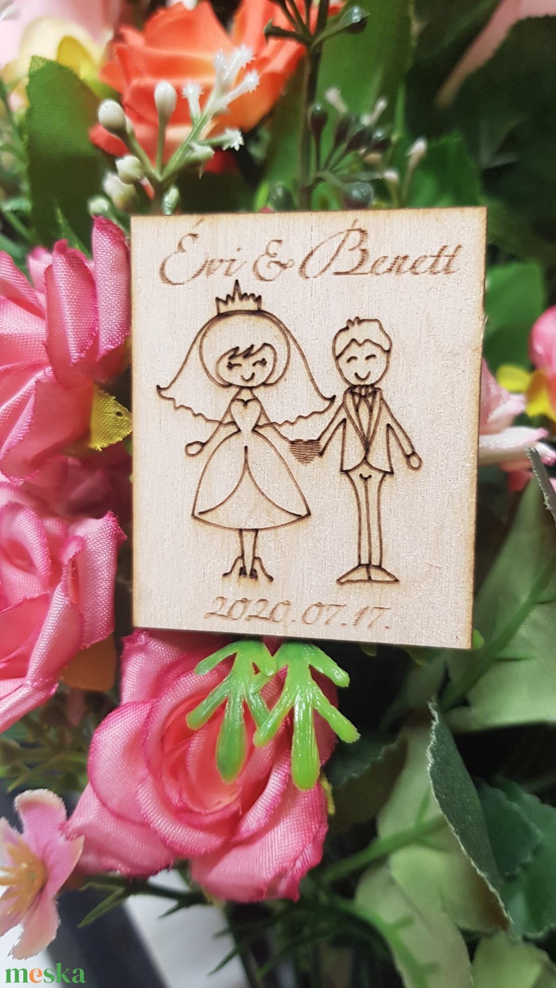 Köszönet ajándék, Köszönő ajándék, Hűtőmágnes - szerelmespár, esküvőre - esküvő - emlék & ajándék - köszönőajándék - Meska.hu