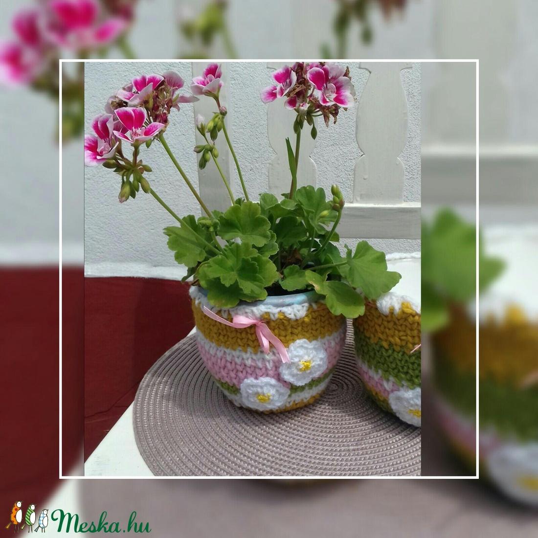 Virágos kaspó - otthon & lakás - dekoráció - virágtartó - Meska.hu