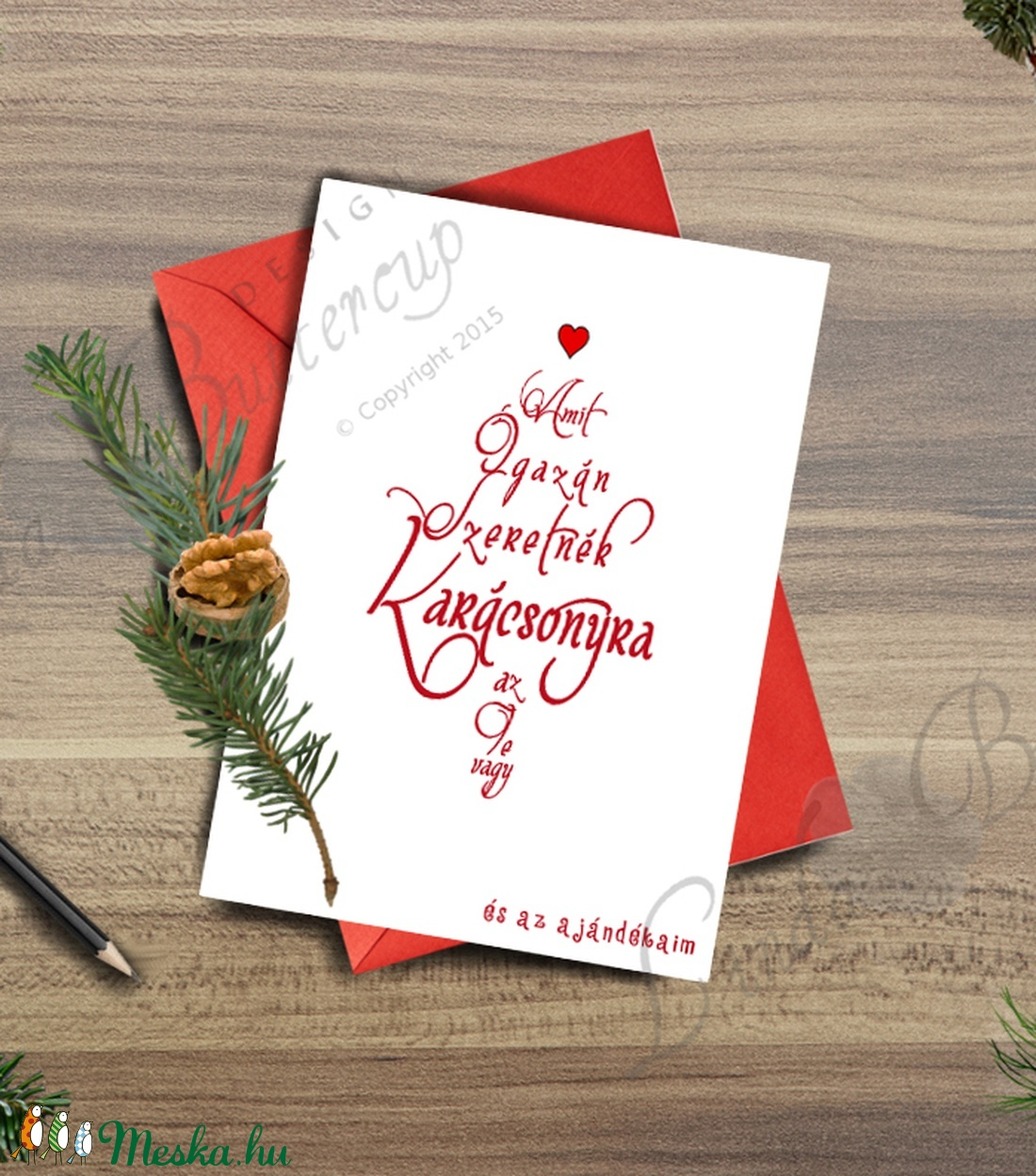 Karácsonyi Képeslap, Adventi Képeslap, Vicces Karácsonyi lap, Karácsonyi Szerelmes üdvözlőlap  - karácsony - karácsonyi ajándékozás - karácsonyi képeslap, üdvözlőlap, ajándékkísérő - Meska.hu