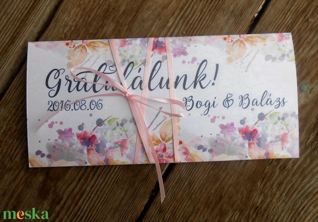 Pénzátadó boríték, pénz átadó lap, Nászajándék, Gratulálunk képeslap, Esküvői Gratuláció, pénz lap - esküvő - emlék & ajándék - nászajándék - Meska.hu