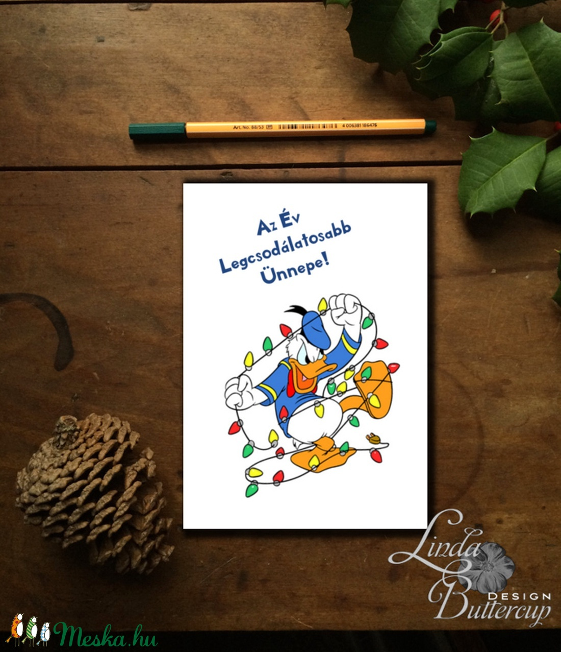 Vicces Karácsonyi Képeslap, Adventi kártya, Vicces lap, Ünnepi üdvözlőlap, humoros lap - karácsony - karácsonyi ajándékozás - karácsonyi képeslap, üdvözlőlap, ajándékkísérő - Meska.hu