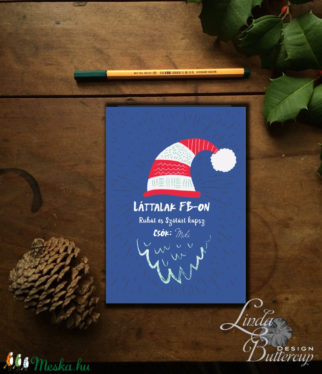 Vicces Karácsonyi Képeslap, Humorors, Modern, Adventi kártya, Vicces lap, üdvözlőlap, ironikus, szarkasztikus - karácsony - karácsonyi ajándékozás - karácsonyi képeslap, üdvözlőlap, ajándékkísérő - Meska.hu