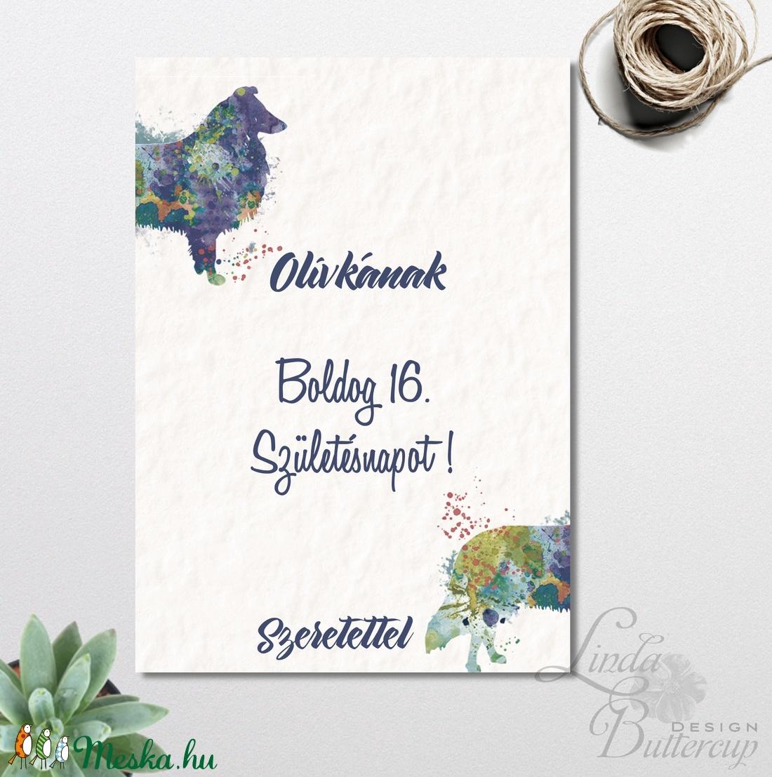 névre szóló szülinapi képeslap Születésnapi Kutyás Képeslap, névre szóló lap, személyre szóló lap  névre szóló szülinapi képeslap