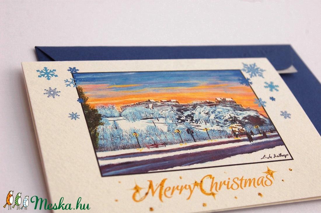 Karácsonyi Képeslap,  Winter Wonderland, Téli táj, festmény, Adventi Képeslap, Karácsony, üdvözlőlap, Ünnepi lap, kártya - karácsony - karácsonyi ajándékozás - karácsonyi képeslap, üdvözlőlap, ajándékkísérő - Meska.hu