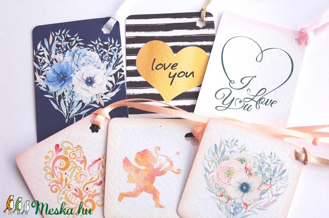 Valentin napi Ajándékkísérő, valentin nap, ajándék, kísérőkártya, szülinap, szív, barack, szeretlek, tavaszi, love you, - otthon & lakás - papír írószer - ajándékkísérő - Meska.hu