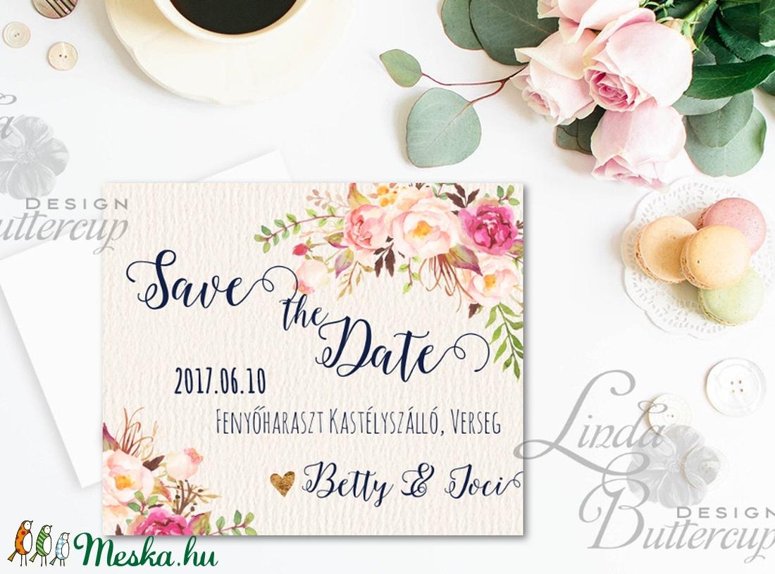 Save the date kártya, jegyezd fel lap, Esküvői meghívó, naptár, dátum, figyelmeztető lap, emlékeztető (LindaButtercup) - Meska.hu