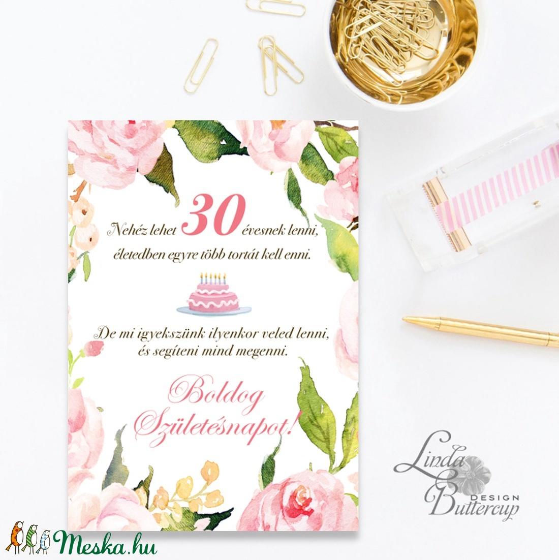 névre szóló szülinapi képeslap Szülinapi Képeslap, 30. születésnap, Egyedi, személyre szóló  névre szóló szülinapi képeslap