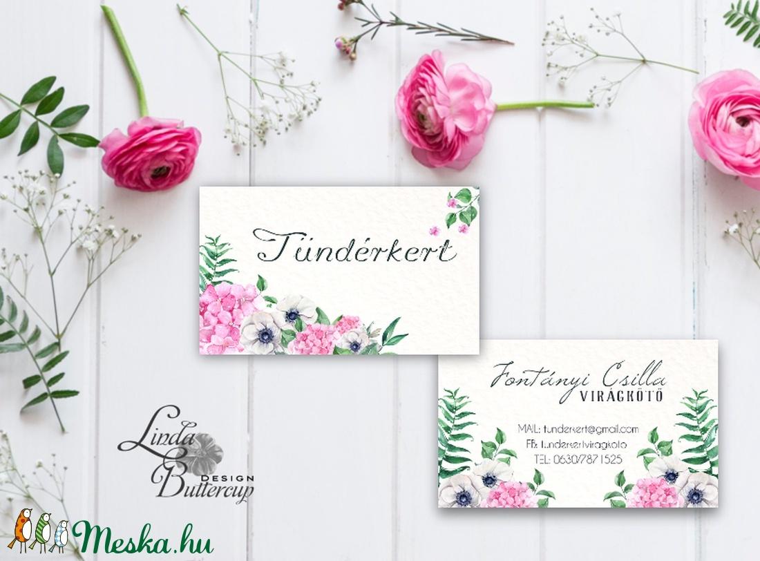 Névjegykártya, Egyedi Tervezés, virágkötő, címke, Névjegy, design, szerkesztés, virágos, logo, ajándékkísérő, logó (LindaButtercup) - Meska.hu