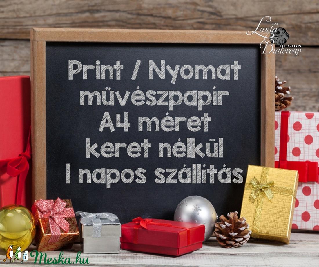 Vintage kép, Print, Vintage karácsonyi kép, dekoráció, dekor, falikép, Adventi, fenyő, magyal, holly, botanikus, növény - karácsony - karácsonyi lakásdekoráció - karácsonyi lakásdíszek - Meska.hu