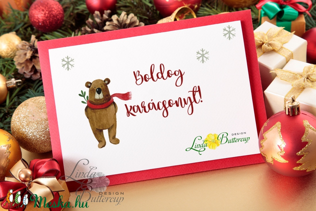 Karácsonyi Képeslap, Adventi Képeslap, Karácsonyi Dekoráció, Karácsonyi üdvözlőlap, Ünnepi képeslap  - karácsony - karácsonyi ajándékozás - karácsonyi képeslap, üdvözlőlap, ajándékkísérő - Meska.hu