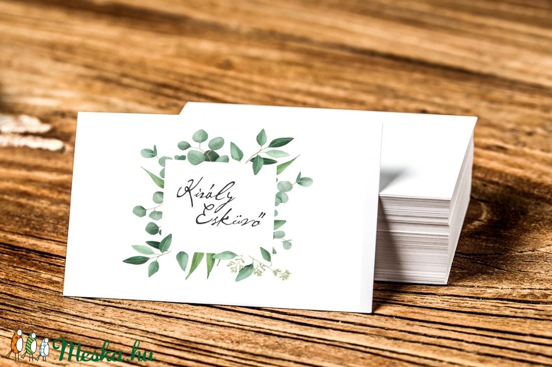 Greenery Névjegykártya, Egyedi Tervezés, címke, Névjegy, design, szerkesztés, virágos, logo, arany, ajándékkísérő, logó - otthon & lakás - papír írószer - naptár & tervező - Meska.hu