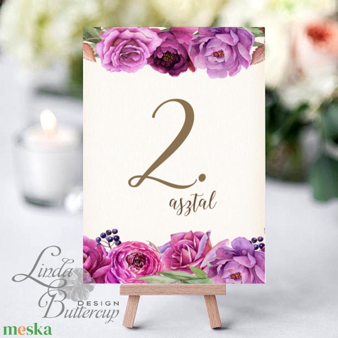 Asztalszám kártya, Ültetési rend, Dekoráció, kellék, Esküvői lap, Esküvő Dekor, Esküvői felirat, kártya, desszert (LindaButtercup) - Meska.hu