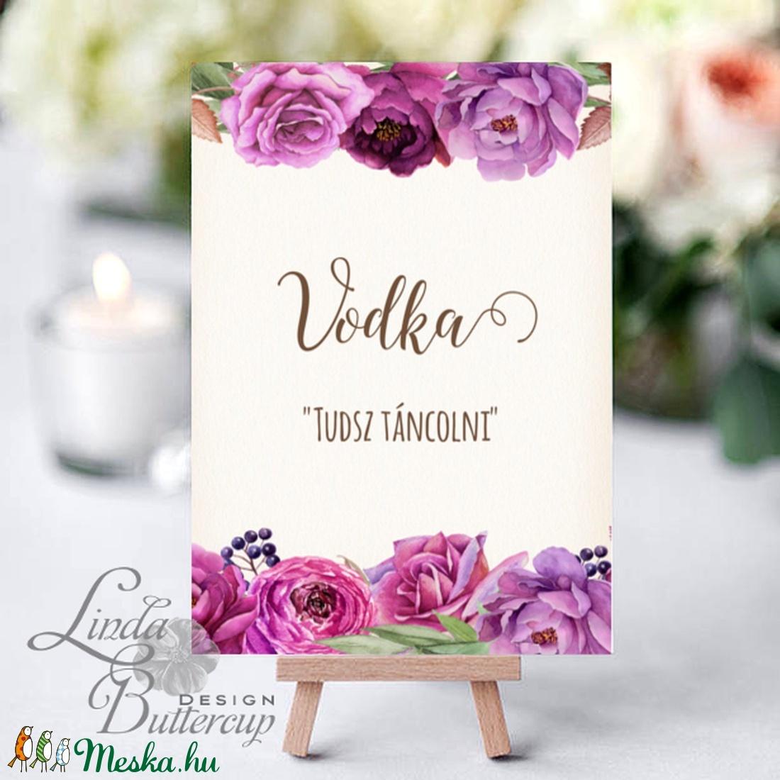 Vicces Felirat Esküvőre, Itallap, Vodka, Dekoráció, kellék, Tudsz táncolni, alkohol, Dekor, Esküvői kártya, desszert lap (LindaButtercup) - Meska.hu