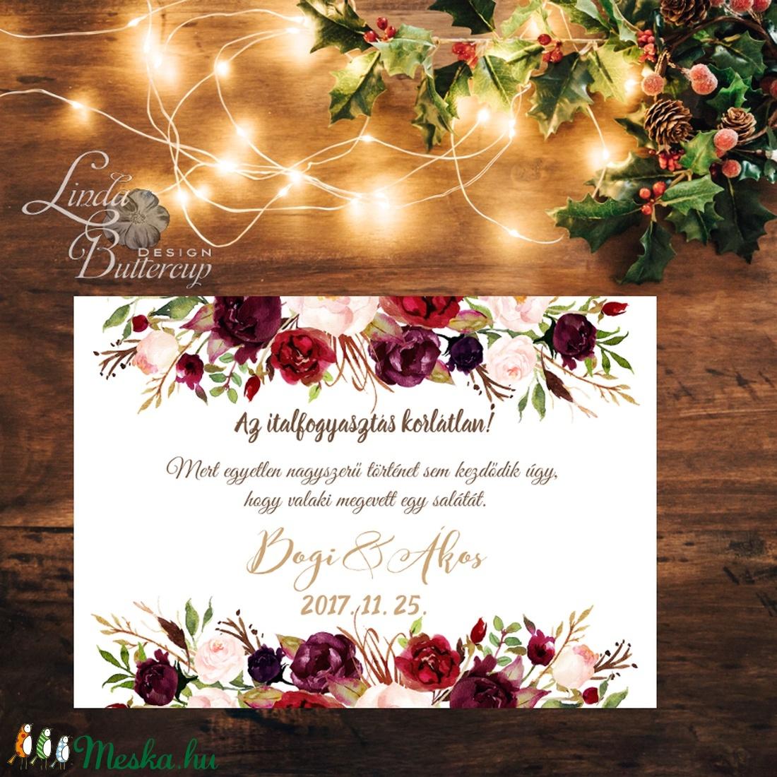 Esküvői Poszter A2, Esküvői kép, Esküvő Dekor, Esküvői felirat, Vintage, Elegáns, Virágos, Őszi, Téli, Karácsony, vicces (LindaButtercup) - Meska.hu