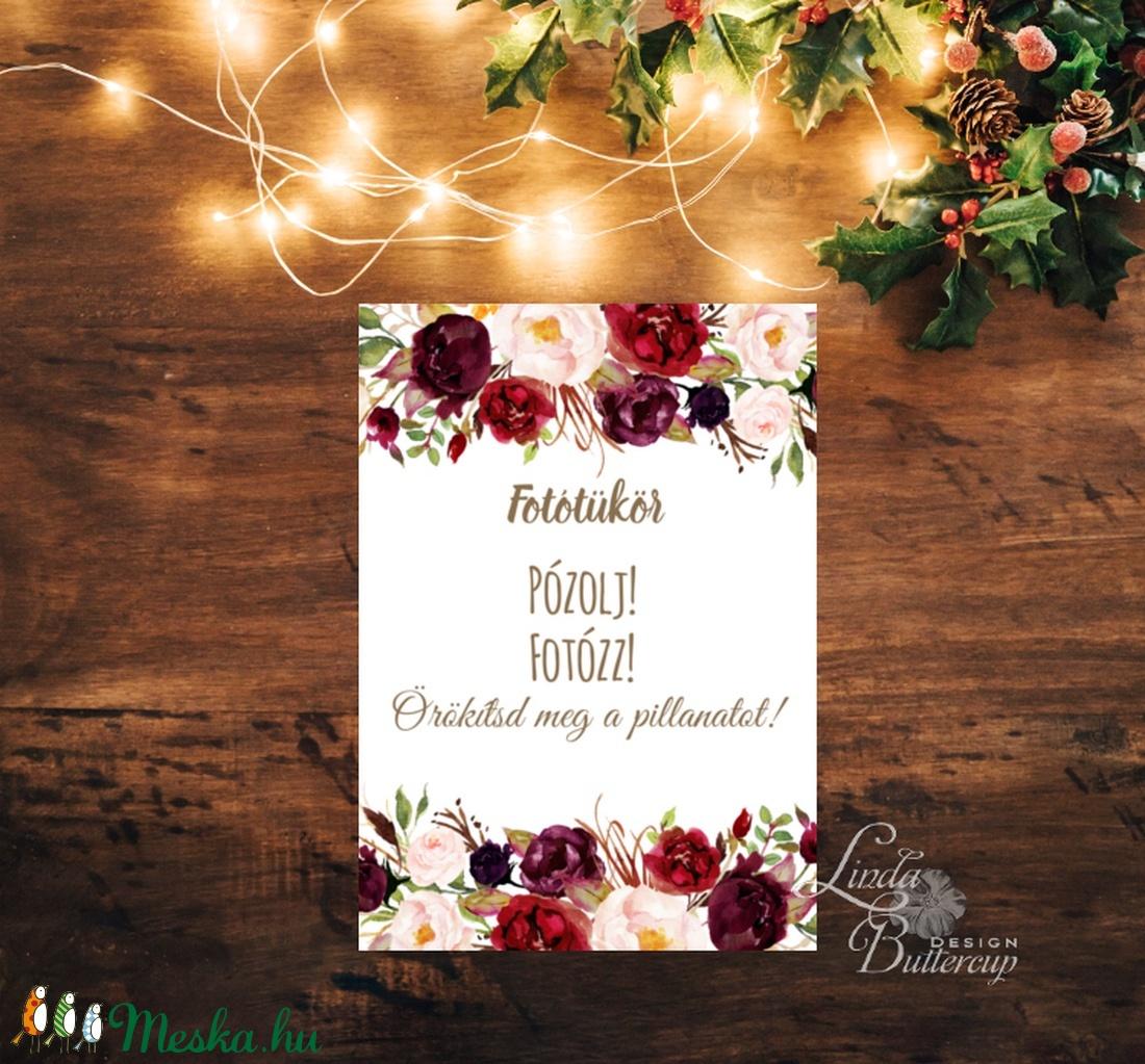 Fotózkodj kártya, lap, fotófal, Dekoráció, kellék, Esküvői lap, Esküvő Dekor, Esküvői felirat, kártya, fénykép (LindaButtercup) - Meska.hu