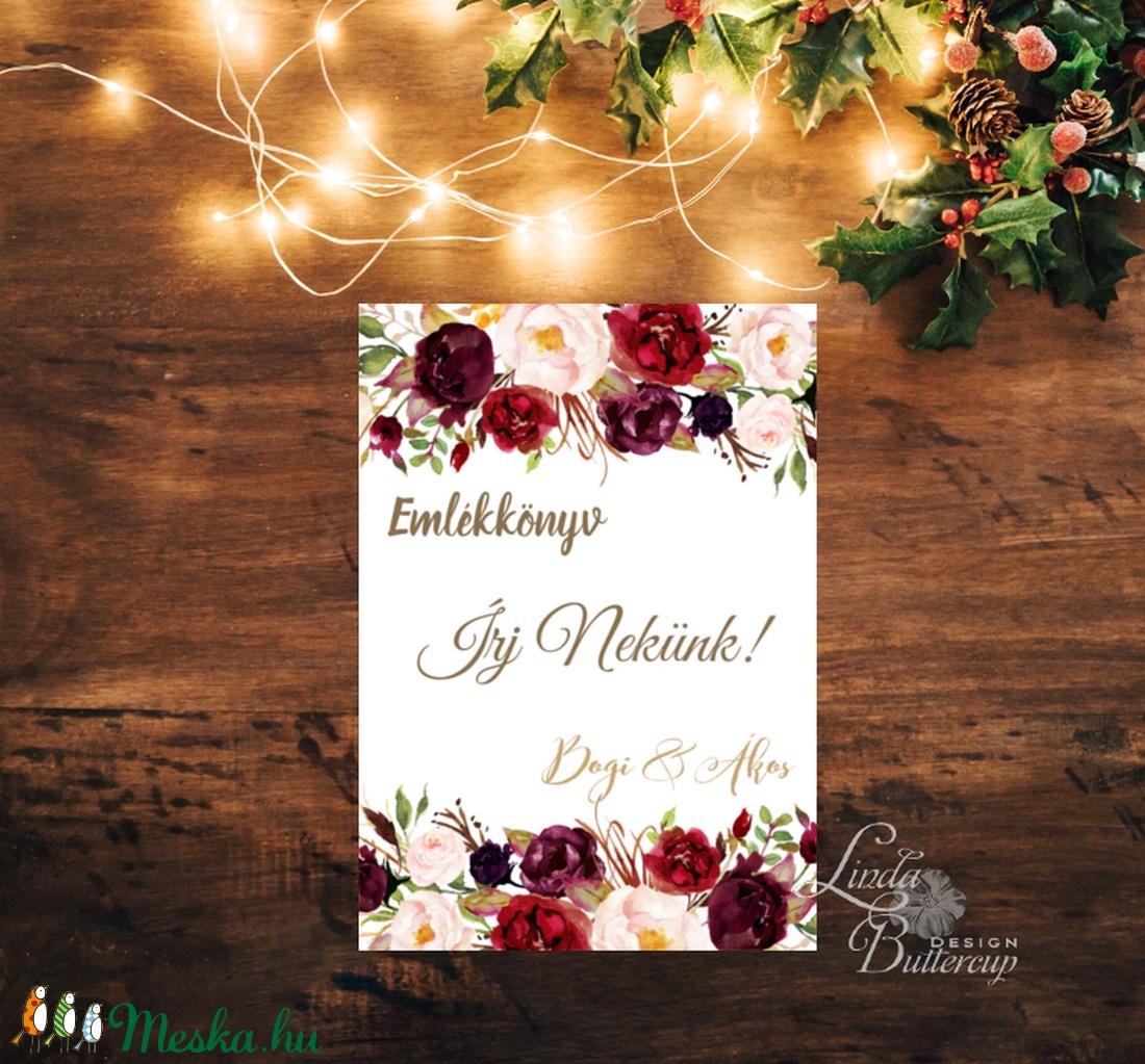 Írj nekünk kártya, lap, emlékkönyv, könyv, Dekoráció, kellék, Esküvői lap, Esküvő Dekor, Esküvői felirat, vendéggkönyv (LindaButtercup) - Meska.hu