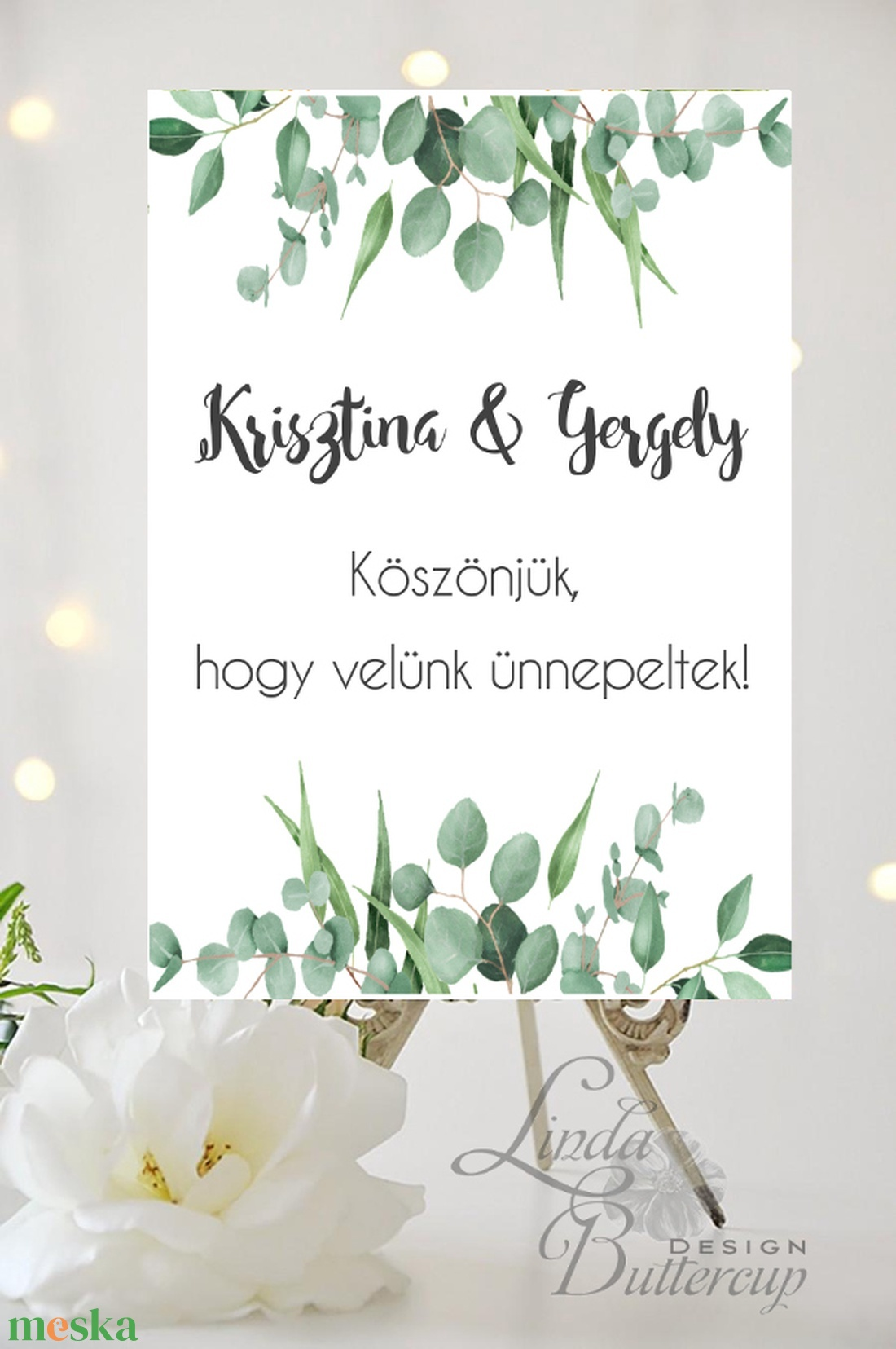 Esküvői Poszter A3, Esküvői kép, Esküvő Dekor, Felirat, Tábla, Vintage, Elegáns, Virágos, Rusztikus, Welcome, vendégváró - esküvő - dekoráció - helyszíni dekor - Meska.hu