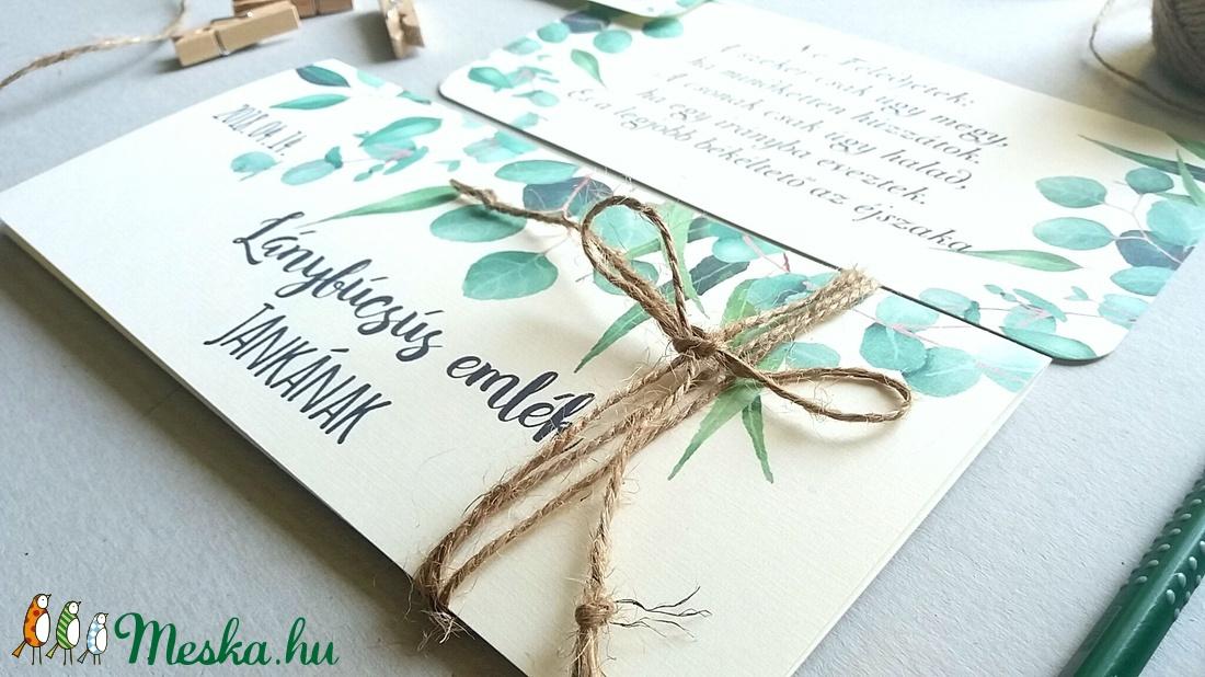 Pénzátadó boríték, greenery, eukaliptusz, zöld, Nászajándék, Gratulálunk képeslap, Esküvői Gratuláció, pénz átadó lap, - esküvő - emlék & ajándék - nászajándék - Meska.hu
