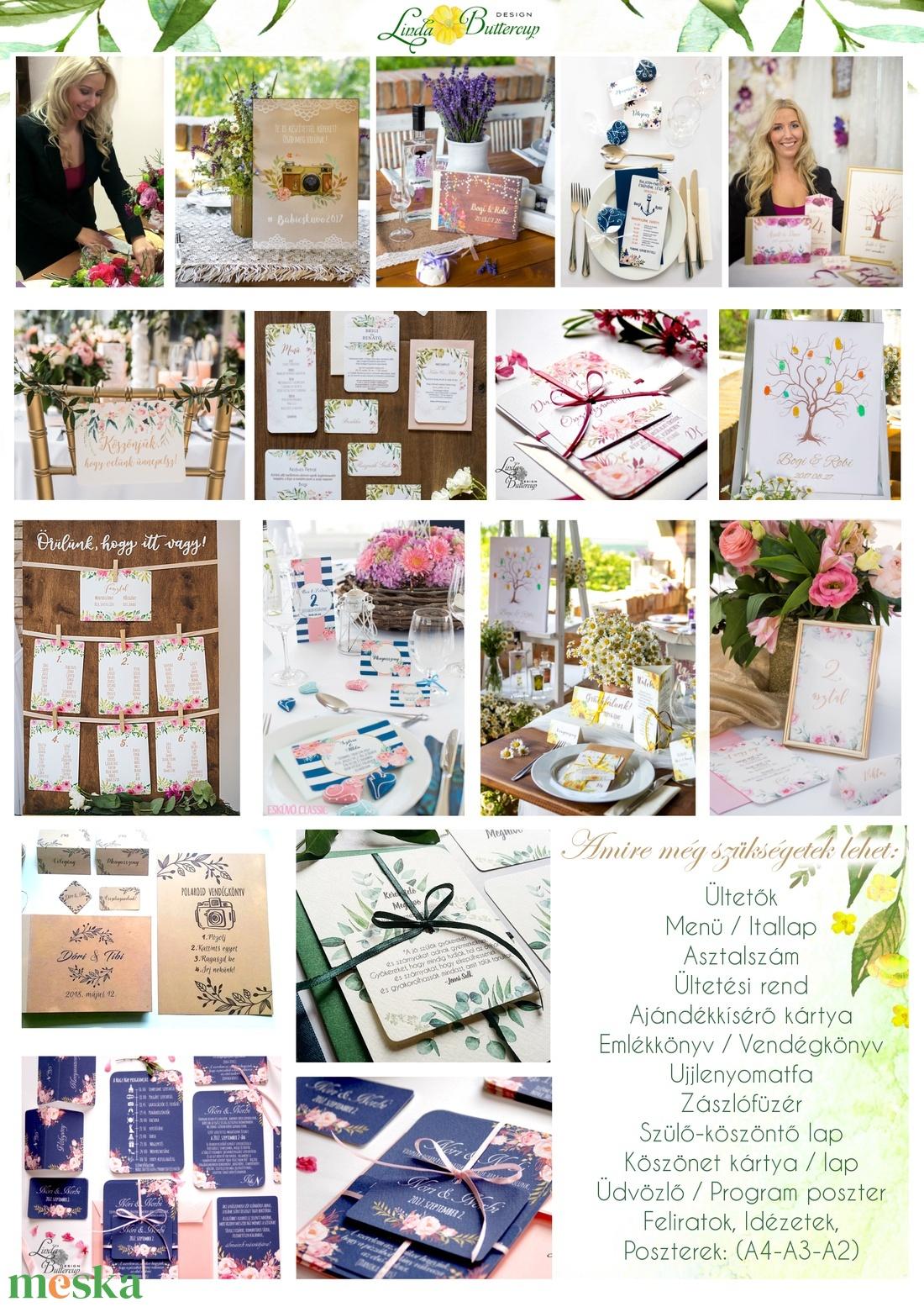 Esküvői Menü, Rusztikus esküvői dekoráció, bordó, arany, rózsa, burgundy menüsor, itallap, italok, asztalszám, őszirózsa - esküvő - meghívó & kártya - menü - Meska.hu