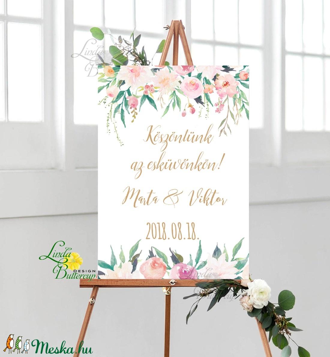 Esküvői Poszter A3, Esküvői kép, Esküvő Dekor, Esküvői felirat, program, idővonal, idézet, üdvözlő, köszöntő, virágos - esküvő - dekoráció - helyszíni dekor - Meska.hu