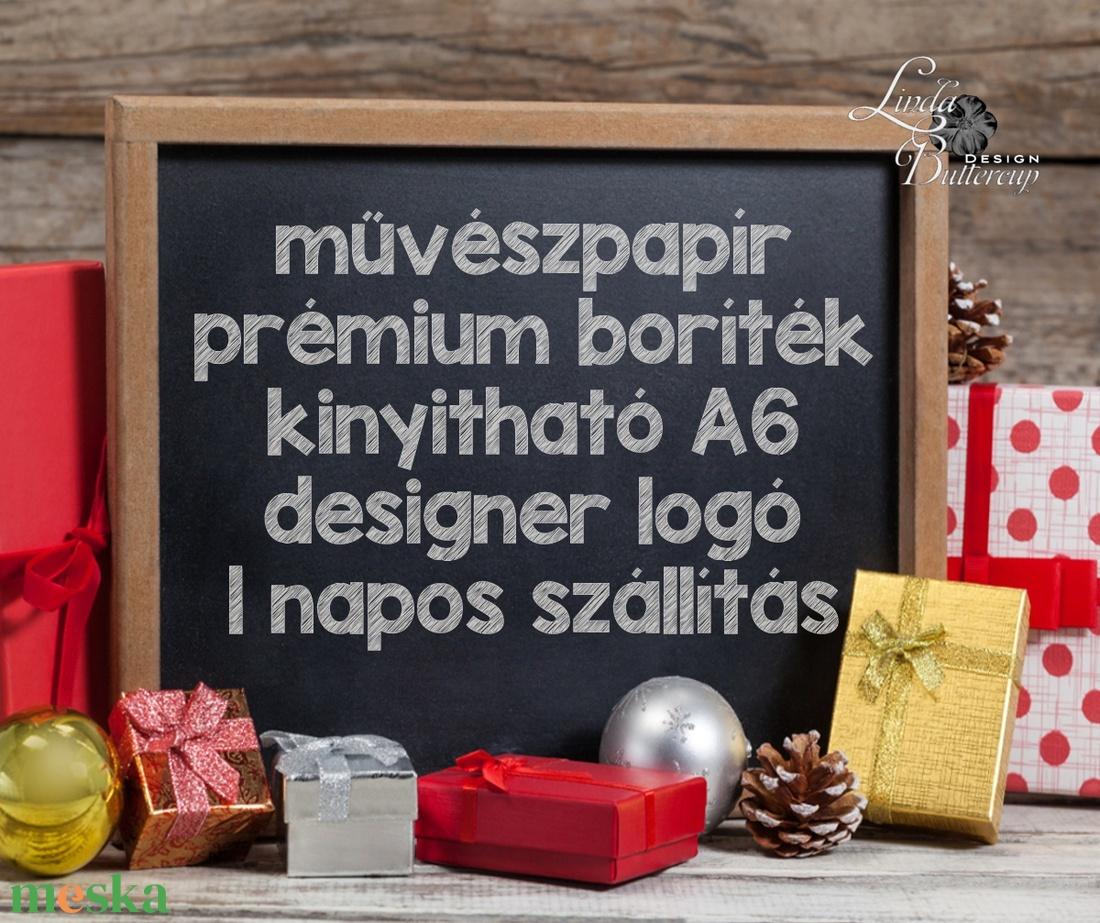 Karácsonyi Képeslap, Nyuszis, egyedi Képelap,s Karácsonyi, Karácsonyi üdvözlőlap, Ünnepi képeslap, nyúl, állatos, cuki - karácsony - karácsonyi ajándékozás - karácsonyi képeslap, üdvözlőlap, ajándékkísérő - Meska.hu