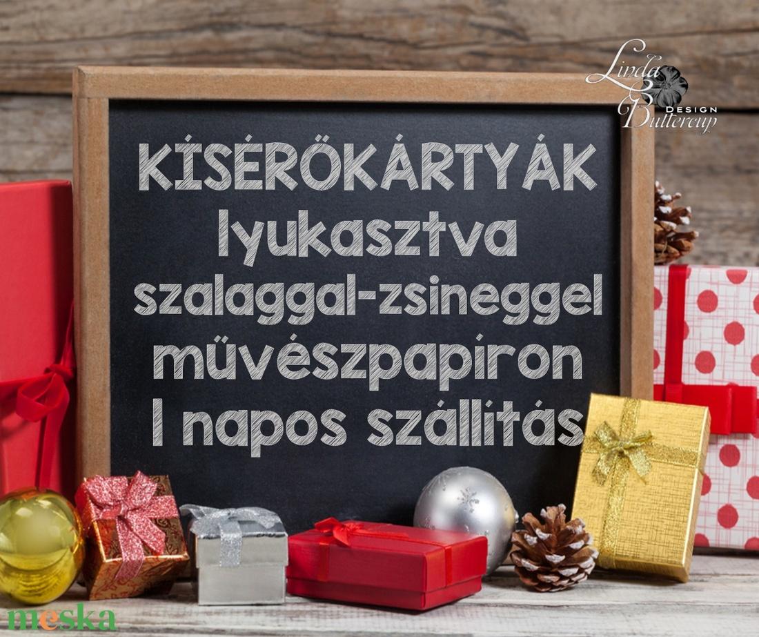 Névre szóló Karácsonyi Ajándékkísérő, egyedi, geometriai, geometrikus, ajándék, minimál design, arany keret, elegáns - otthon & lakás - papír írószer - ajándékkísérő - Meska.hu