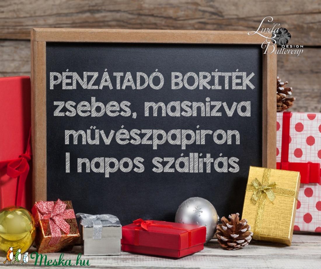 Karácsonyi ajándék, Pénzátadó boríték, utalvány átadó, céges ajándék, pénz, képeslap, egyedi, személyre szóló, autó - otthon & lakás - papír írószer - boríték - Meska.hu